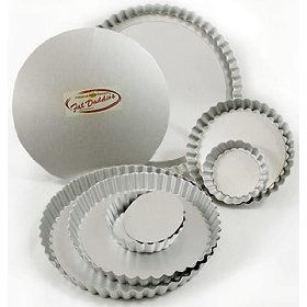 "FAT DADDIOS Fluted tart pan removable bottom 6.5"" x 1"""