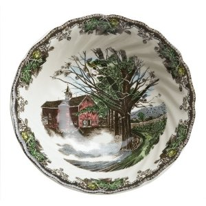 JOHNSON BROTHERS FRIENDLY VILLAGE ĐĨA OVAL 15.25 INCH