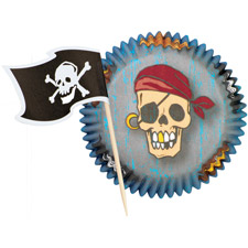 WILTON Pirate Cupcake Combo Pack Pack of 24