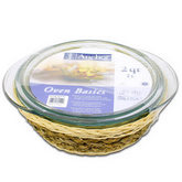 ANCHOR HOCKING 2 Qt Covered Casserole Dish, Rattan Basket