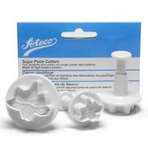 ATECO Lily Shaped Sugar Paste Cutter Set