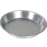 BROWNE Pie Plate, 9 in Diameter, 1.25 in Deep, Aluminum