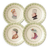CIRCLE OF KINDNESS Topsy Turvy Plates, Set of 4