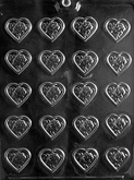 CYBRTRAYD Chocolate Candy Mold - ROSE HEART MINT