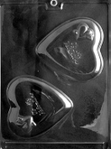 CYBRTRAYD Chocolate Candy Mold - BE MY VALENTINE HEART