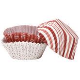 MARTHA STEWART Standard Baking Cups - Pack of 48 - Candy Cane