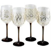 MIKASA Cheers Tapestry Wine Glasses, Set of 4