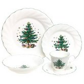 NIKKO Ceramics Happy Holidays 5-Piece Dinnerware Place Setting, Service for 1