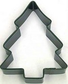 "R&M 3.5"" Christmas Tree Metal Cookie Cutter Poly Resin Coated"