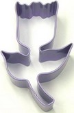 "R&M 3.25"" Tulip Metal Cookie Cutter Poly Resin Coated"