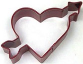 "R&M 4"" Heart w/Arrow Metal Cookie Cutter Poly Resin Coated"