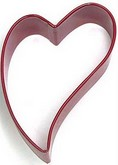 "R&M 3"" Heart Folk Metal Cookie Cutter Poly Resin Coated"