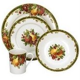 REED & BARTON Williamsburg Winter's Garland 4-Piece Dinnerware Set, Service for 1