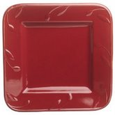 SIGNATURE SORRENTO 9-Inch Square Salad Plate, Burgundy