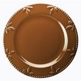 SIGNATURE SORRENTO 11-Inch Round Dinner Plate, Chocolate Brown