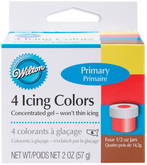 WILTON Primary 4 Icing Color Set