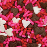 WILTON Sprinkles - Chocolate Hearts Mix
