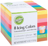 WILTON Icing Colors 1/2 Ounce - Assorted Colors, Set of 8