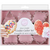 WILTON Mini Metal Cookie Cutters - Geometic Crinkle