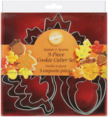 WILTON Cookie Cutter Leaves & Acorn - Set of 9
