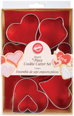 WILTON Cookie Cutter Heart Shape - Set of 7