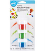 WILTON .47 oz. Shimmer Dust - Red, Green, Blue